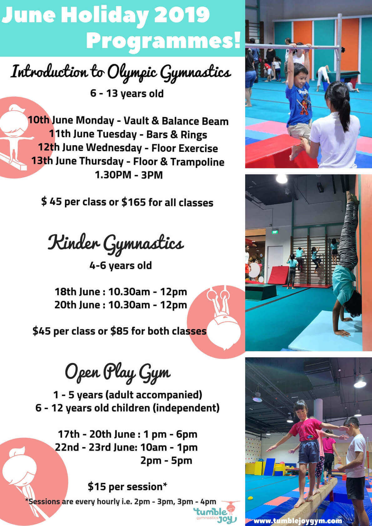 Tumble Joy Holiday Program!